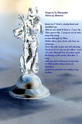 Prayer To St Christopher Poster