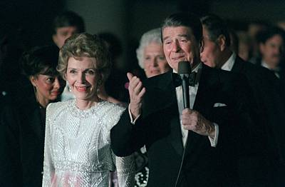 President And Mrs. Reagan Attend Poster by Everett