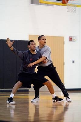 President Barack Obama Guards Poster by Everett