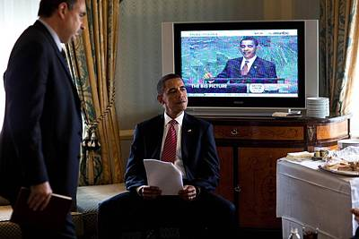 President Barack Obama In Front Poster
