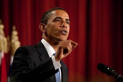 President Barack Obama Making Poster by Everett