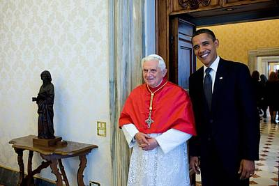 President Barack Obama Meets With Pope Poster by Everett