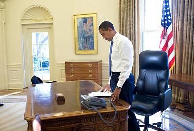 President Barack Obama On His First Poster