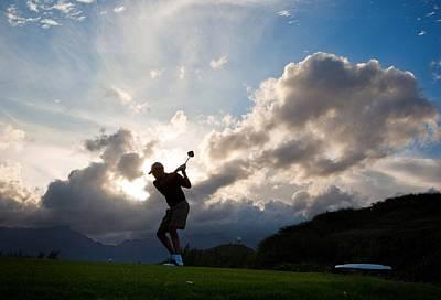 President Barack Obama Plays Golf Poster by Everett
