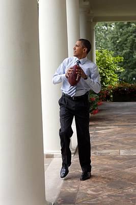 President Barack Obama Prepares Poster by Everett