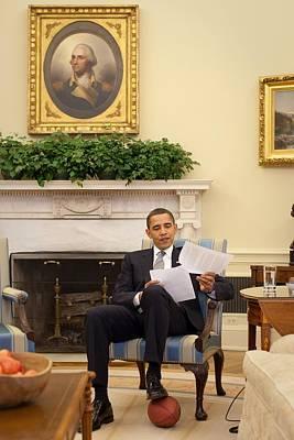 President Barack Obama Rests His Foot Poster
