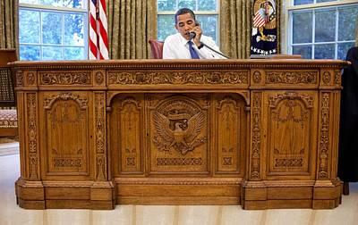 President Barack Obama Sits Poster