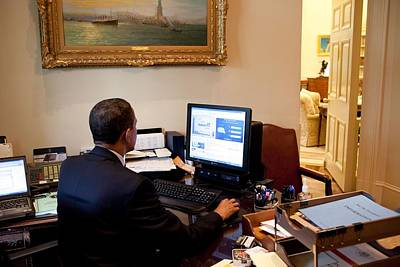 President Barack Obama Tests The New Poster