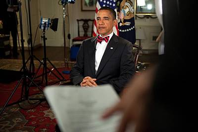 President Barack Obama Wearing A Bow Poster