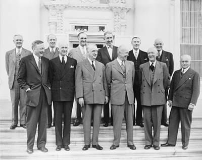 President Eisenhower With Nine Supreme Poster