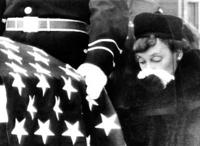 President Eisenhowers Funeral. Mamie Poster by Everett