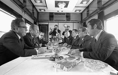 President Ford And Henry Kissinger Meet Poster by Everett