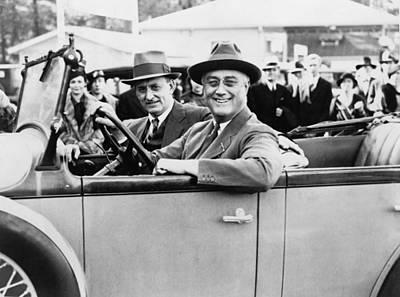 President Franklin D. Roosevelt Driving Poster