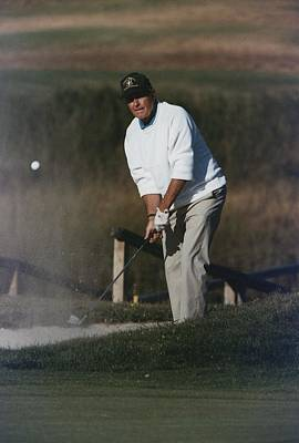 President George Bush Plays Golf Poster by Everett