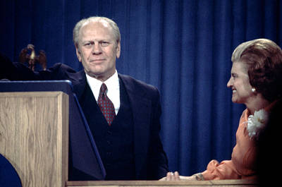 President Gerald Ford And The First Poster by Everett