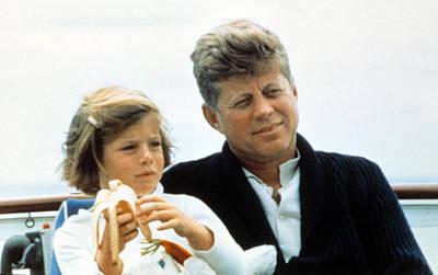 President John F. Kennedy Withdaughter Poster