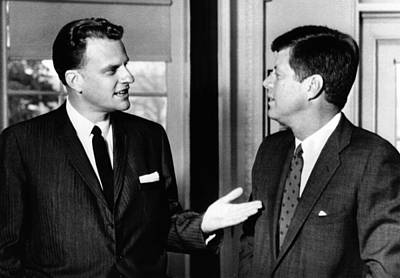 President John Kennedy With Baptist Poster by Everett