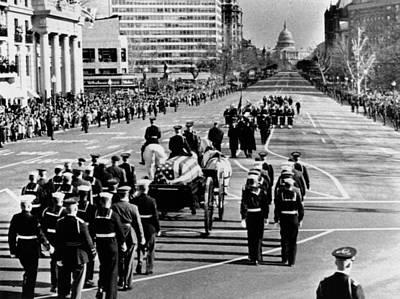 President Kennedy�s Flag-draped Coffin Poster