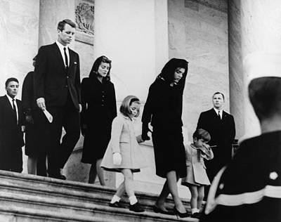 President Kennedys Family Leaves Poster by Everett