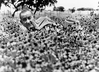 President Lyndon Johnson Lying Poster