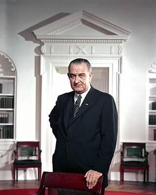 President Lyndon Johnson. Official Poster by Everett