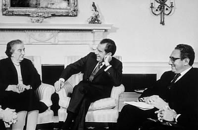 President Nixon Henry Kissinger Poster by Everett
