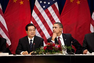 President Obama And Chinese President Poster