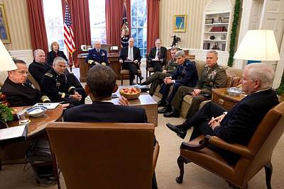 President Obama And Defense Secretary Poster by Everett