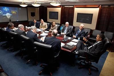 President Obama And Vp Joe Biden Hold Poster by Everett