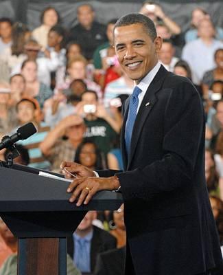 President Obama At The University Poster by Everett