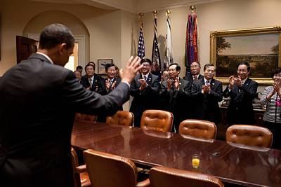 President Obama Bids Farewell Poster by Everett