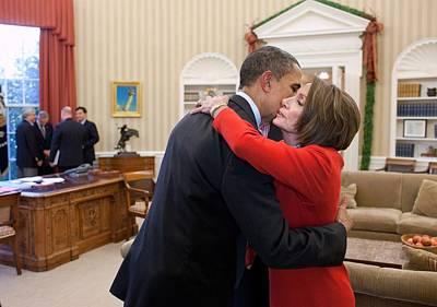 President Obama Embraces House Speaker Poster by Everett