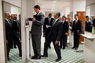President Obama Jokingly Puts His Toe Poster by Everett