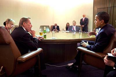 President Obama Meeting With Former Poster