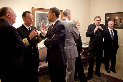 President Obama Talks With Admiral Poster