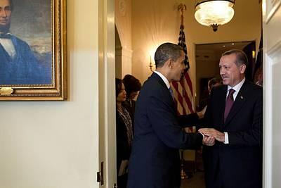 President Obama Welcomes Prime Minister Poster by Everett