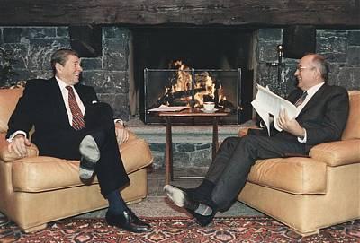 President Reagan And General Secretary Poster by Everett