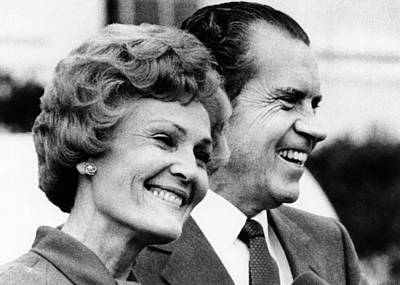 President Richard Nixon And First Lady Poster by Everett