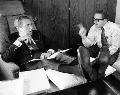 President Richard Nixon And Henry Poster by Everett
