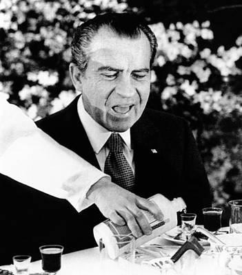 President Richard Nixon At A Chinese Poster