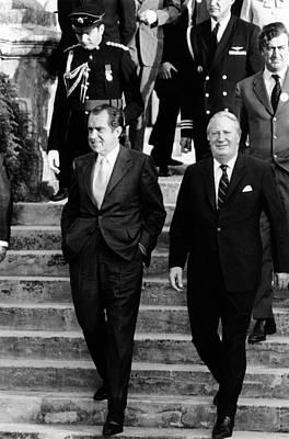 President Richard Nixon Left Poster