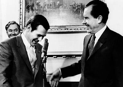 President Richard Nixon With Rep Poster by Everett