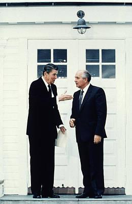 President Ronald Reagan, Soviet Premier Poster by Everett
