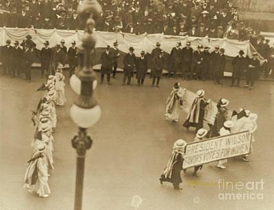 President Wilson Favors Votes For Women Poster by Padre Art