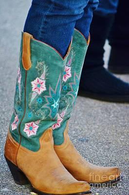 Pretty Boots Poster by Lynda Dawson-Youngclaus