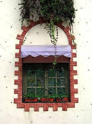 Pretty Decorated Window Poster