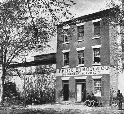 Price, Birch & Co., Dealers In Slaves Poster by Photo Researchers
