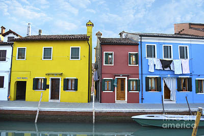 Poster featuring the photograph Primary Colors In Burano Italy by Rebecca Margraf
