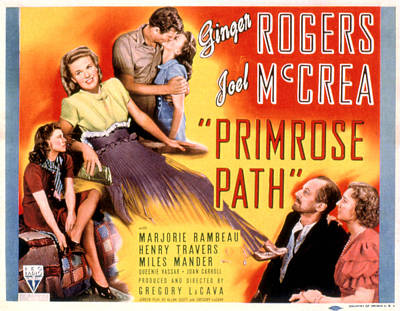 Primrose Path, Ginger Rogers, Joel Poster by Everett