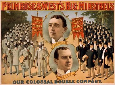 Primrose & Wests Big Minstrels Poster by Everett